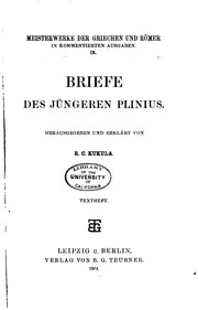 Cover of: Briefe des jüngeren Plinius