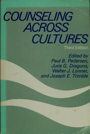 Cover of: Counseling across cultures