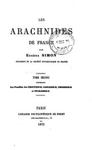 Cover of: Les arachnides de France