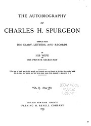 Cover of: The Autobiography of Charles H. Spurgeon