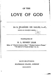 Cover of: Of the Love of God