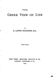 Cover of: The Greek View of Life