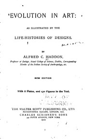 Cover of: Evolution in Art: As Illustrated by the Life-histories of Designs