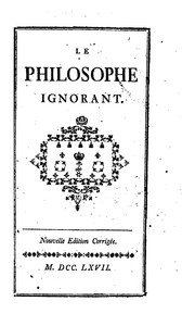 Cover of: Le philosophe ignorant