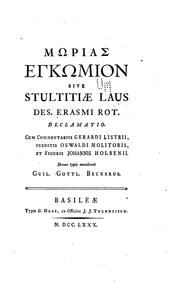 Cover of: Stultitiae Laus