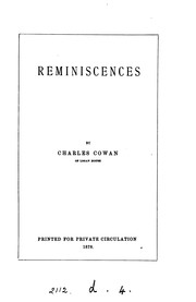 Cover of: Reminiscences