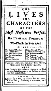 Cover of: The Lives and Characters of the Most Illustrious Persons British and Foreign. Who Died in the ..