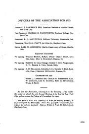 Cover of: Volume of Proceedings