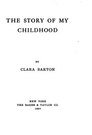 Cover of: The Story of My Childhood