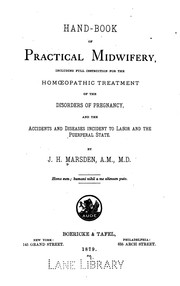 Cover of: Hand-book of practical midwifery: Including Full Instruction for the Homoeopathic Treatment of ..