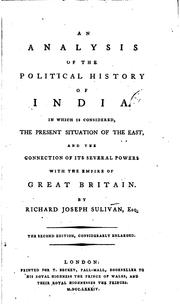 Cover of: An Analysis of the Political History of India: In which is Considered, the ..