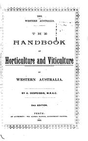 Cover of: The Handbook of Horticulture and Viticulture of Western Australia
