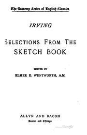 Cover of: Selections from the Sketch-book