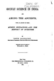 Cover of: Occult Science in India and Among the Ancients: With an Account of Their ...