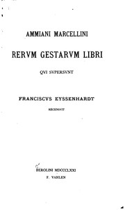 Cover of: Ammiani Marcellini Rerum gestarum libri
