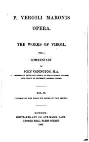 Cover of: P. Vergili Maronis opera. The works of Virgil, with a comm. by J. Conington ..