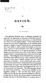 Cover of: A Review of Captain Basil Hall's Travels in North America in the Years 1827 and 1828