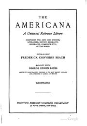 Cover of: The Americana: A Universal Reference Library, Comprising the Arts and ...