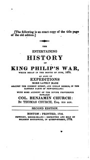 Cover of: The History of the Great Indian War of 1675 and 1676, Commonly Called Philip ...