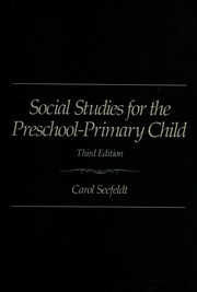 Cover of: Social studies for the preschool-primary child