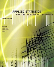 Cover of: Applied statistics for the behavioral sciences