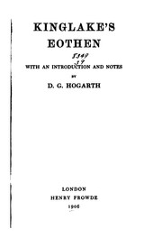 Cover of: Kinglake's Eothen