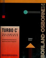 Cover of: Turbo C: the complete reference