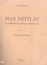 Cover of: Max Nettlau