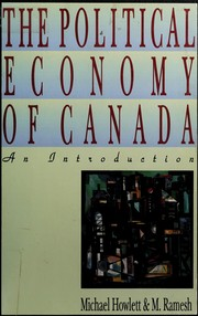 Cover of: The political economy of Canada