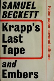 Cover of: Krapp's last tape, and Embers