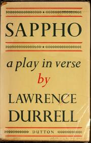 Cover of: Sappho: a play in verse.