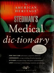 Cover of: The American Heritage Stedman's medical dictionary