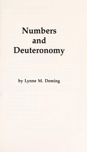 Cover of: Numbers and Deuteronomy