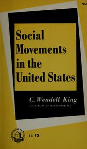 Cover of: Social movements in the United States