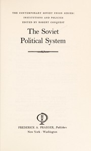 Cover of: The Soviet political system