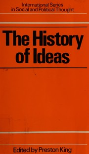 Cover of: The History of ideas