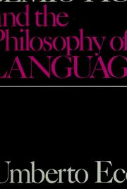 Cover of: Semiotics and the philosophy of language