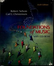 Cover of: Foundations of music