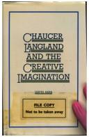 Cover of: Chaucer, Langland, and the creative imagination