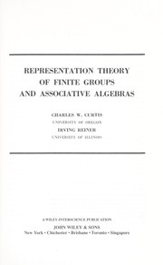 Cover of: Representation theory of finite groups and associative algebras