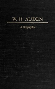 Cover of: W.H. Auden, a biography