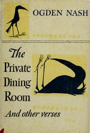 Cover of: The private dining room: and other new verses.