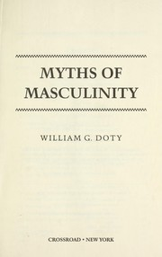 Cover of: Myths of masculinity
