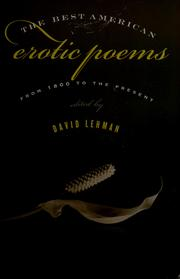 Cover of: The Best American Erotic Poems: From 1800 to the Present