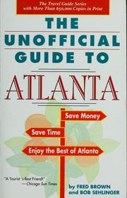 Cover of: The unofficial guide to Atlanta