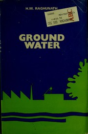Cover of: Ground water