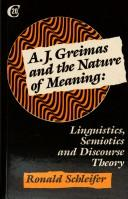 Cover of: A.J. Greimas and the nature of meaning