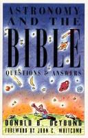 Cover of: Astronomy and the Bible