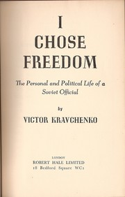 Cover of: I chose freedom