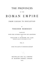 Cover of: The provinces of the Roman Empire from Caesar to Diocletian